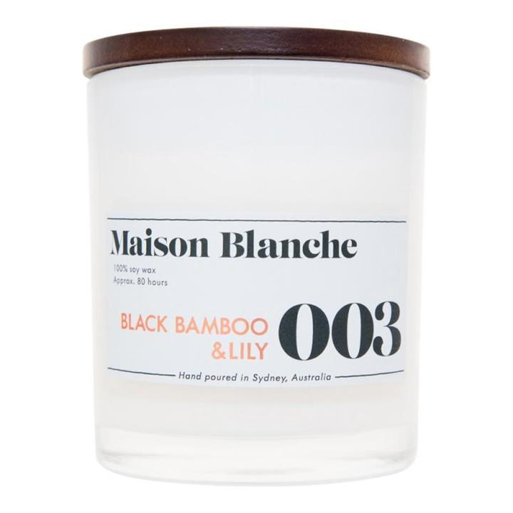 003 Black Bamboo & Lily | 80 Hour Soy Candle