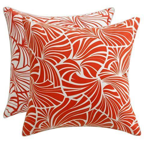 Florence Broadhurst Fans Red Cushion Cover | Indoor/Outdoor
