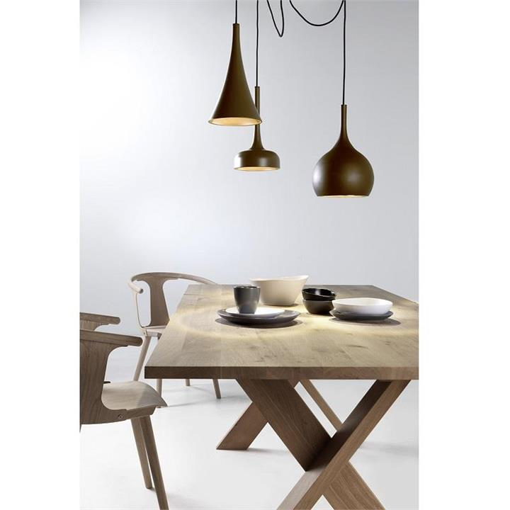Modern LED Triple Pendants | Matt Brown and Copper