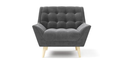 Pia Armchair - Cosmic Anthracite