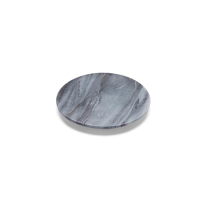 Baby Noir Flared Dish | Marble
