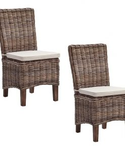 Greenface Kubu Rattan Dining Chair (Set of 2)