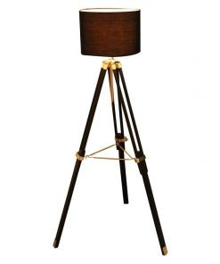 Fabric Tripod Floor Lamp