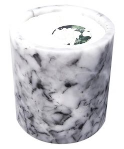 Soy Wax Candle in White Marble Holder