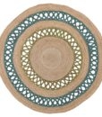 Maui Tortuga Handcrafted Round Flatweave Rug