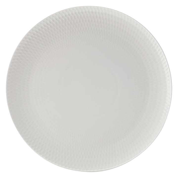 White Basics Diamonds Charger Plate