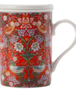 William Morris Strawberry Thief Red Infuser Mug