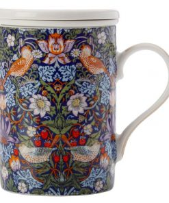 William Morris Strawberry Thief Blue Infuser Mug