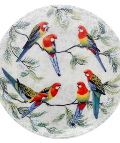 Cashmere Birds of Australia Eastern Rosellas Plate