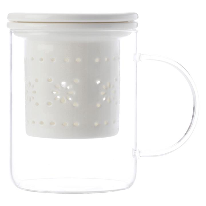 Lille Glass Mug with Infuser