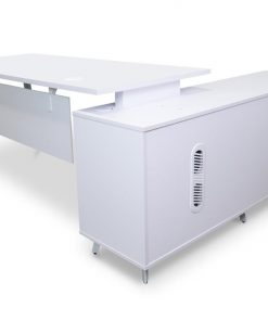 Stylus Executive Office Desk - Left Return - White