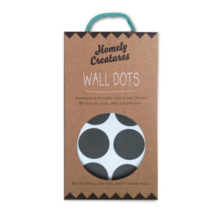 Wall Decal Dots   Removal & Reusable   Black