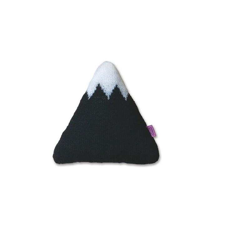 Knitted Mountain Cushion | Black | Small