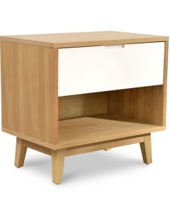 Iris Wooden Bedside Table