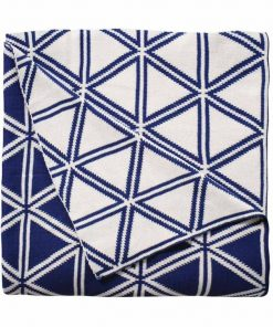 Wellington Throw 125X150Cm -Navy