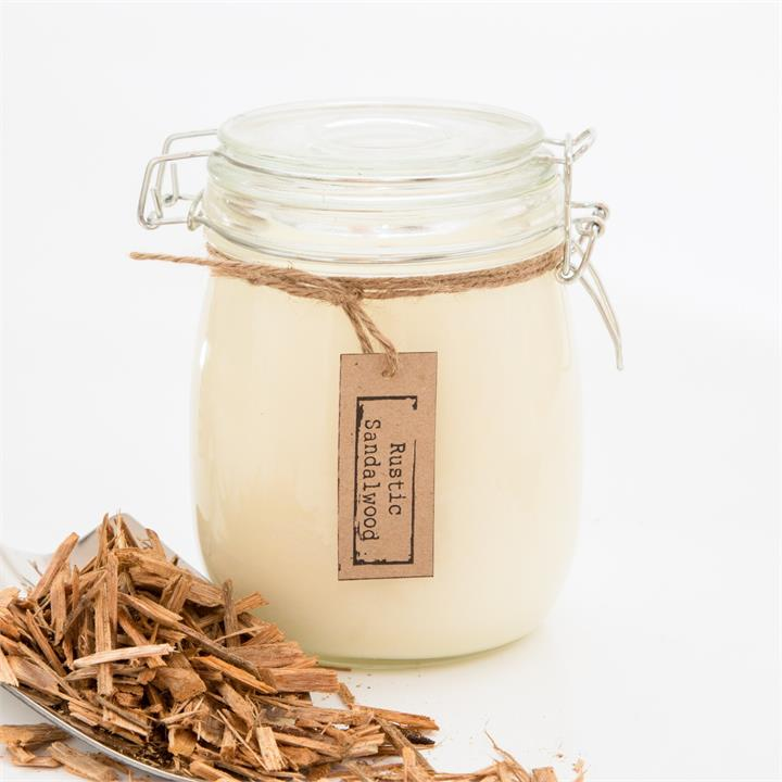 Rustic Sandalwood Soy Candle | Various Sizes