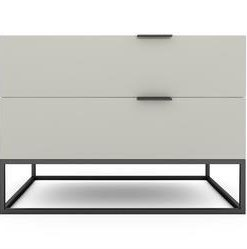 Tallinn Bedside Table - High Gloss Avorio