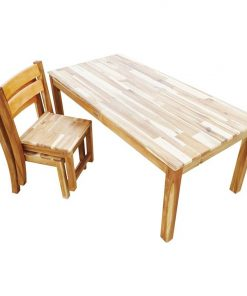 Kids Rectangular Table with Stacking Chairs