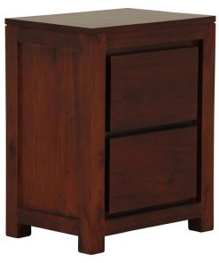 Hague Mahogany 2 Drawer Bedside Table