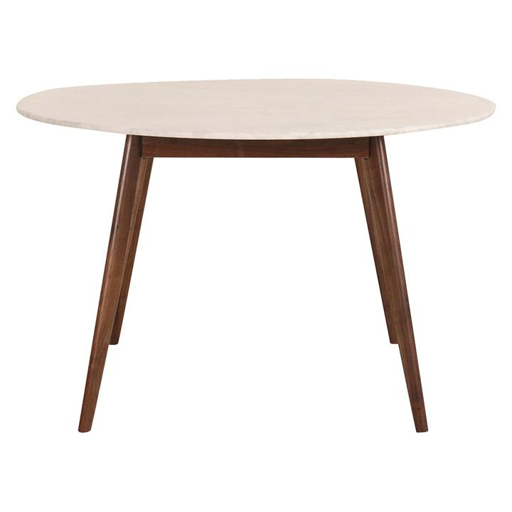 Oia Walnut & Marble Round Dining Table