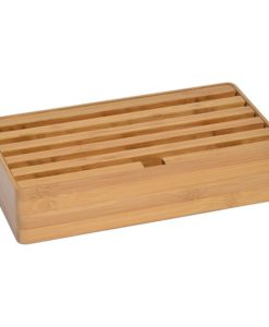 All Dock Bamboo 6-Port Charging Station
