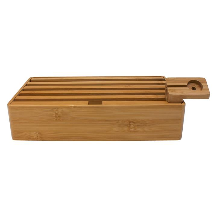 All Dock Bamboo 5-Piece Charging Station Set