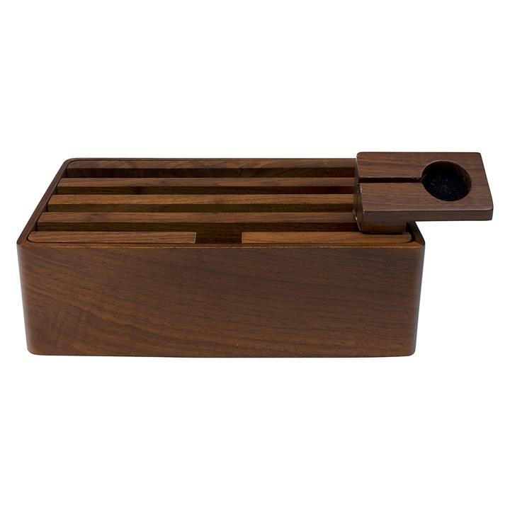 All Dock Walnut 4-Piece Charging Station Set