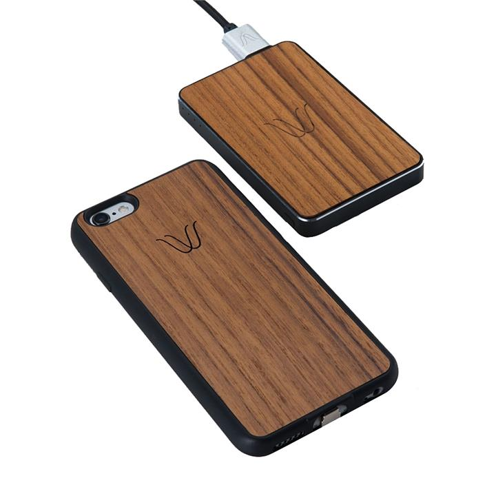 Woodie Teak Wireless 2-Piece Charging Pack