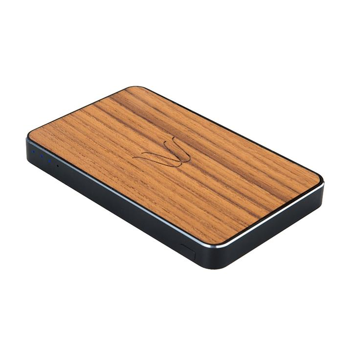 Woodie Teak Wireless Charging Powerbank