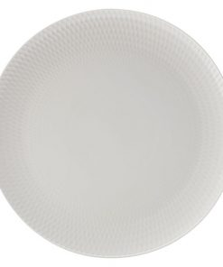 White Basics Diamonds Round Platter
