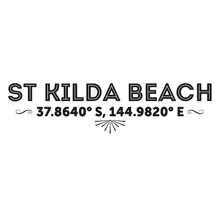 St Kilda Beach Latitude Wall Decal
