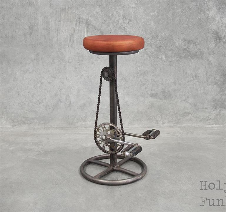 Industrial Bicycle Stool