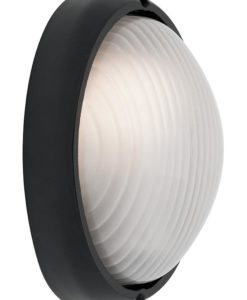 Wall Light Oval Black E27 in 22cm Coogee Cougar Lighting