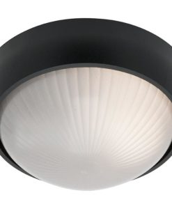 Wall Light Round Black E27 in 19cm Coogee Cougar Lighting