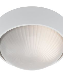 Wall Light Round White E27 in 19cm Coogee Cougar Lighting