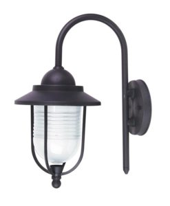 Wall Light Exterior E27 in Graphite 36cm Domo Oriel Lighting