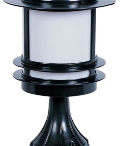 Oriel Lighting - Tokyo Pillar Round Post Bollard Light In Black IP44