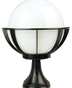Pillar Top Cage Light Exterior Opal Acrylic E27 in 30cm Olympus Newell Oriel