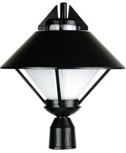 Post Top Light Exterior E27 in Black 36cm Apollo Oriel Lighting
