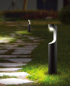 LED Post Bollard Light Exterior 9W in 3000K 80cm Seth CLA Lighting
