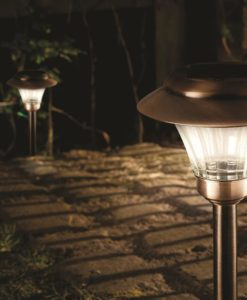 Gardman LED Solar Copper Garden Pagoda Lights Twin Pack