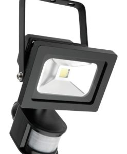 LED Flood Light w Sensor Black 15W in 5500K 12cm Lorne Mercator
