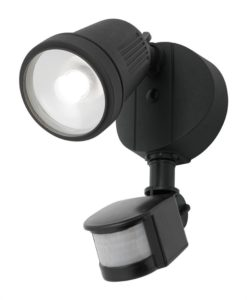 LED Flood Light w Sensor Black 12W in 4000K 13cm Otto Mercator