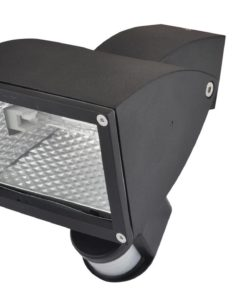Halogen Flood Light w Sensor Adjustable in Matt Black 150W Wedge Pro-Tech