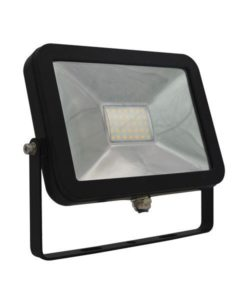 LED Flood Light Outdoor Matt Black 20W in 5000K 18cm Tablet CLA Lighting