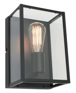 Wall Lamp Matt Black E27 in 25cm Manchester Mercator