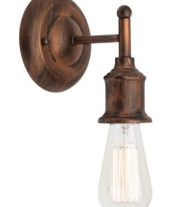 Wall Lamp Antique Bronze E27 in 16cm Leona Mercator