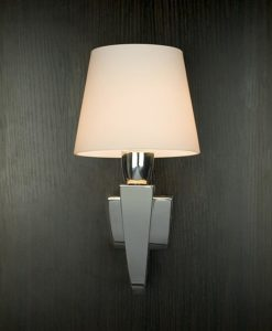 Viore Design Claro Wall Lamp in Stainless Steel w Opal Matt Shade