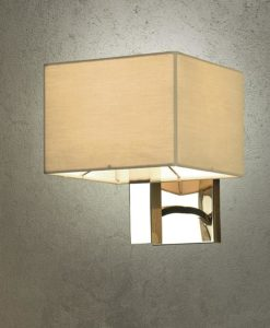 Viore Design Paragon Wall Lamp in Polished Nickel w Clay Shade 23cm