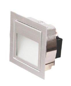 LED Wall Light Recessed Anodized Silver 1.5W in 3000K 8cm Leeman Sunny Lighting